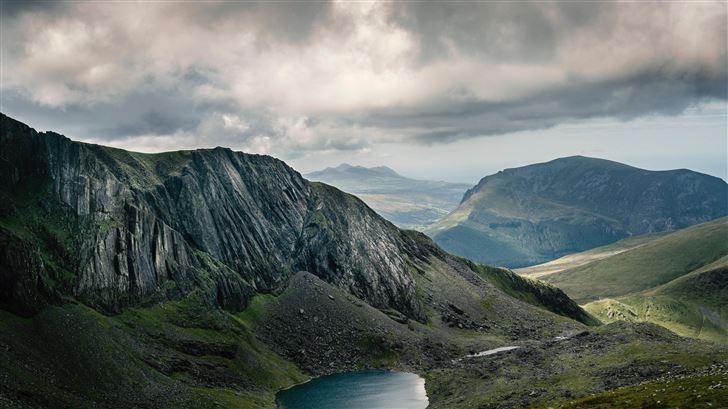 lake near mountains 5k Mac Wallpaper