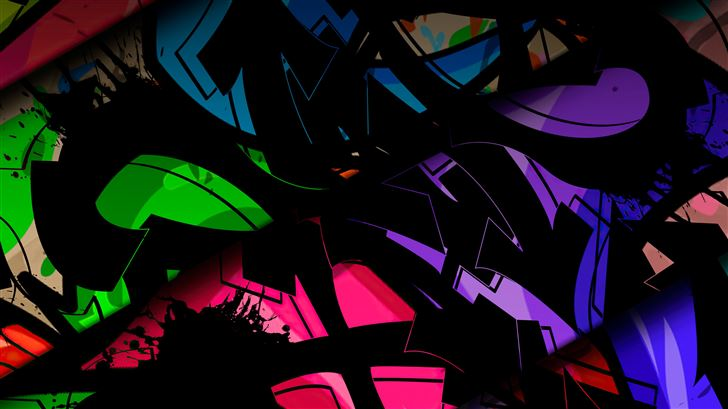 glass broken colors abstract 5k Mac Wallpaper