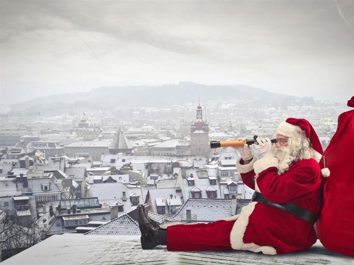 Santa claus is coming Mac Wallpaper