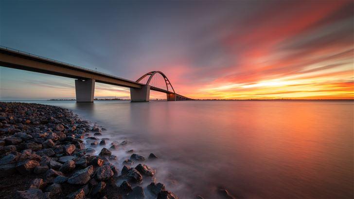 bridge sunset 8k Mac Wallpaper