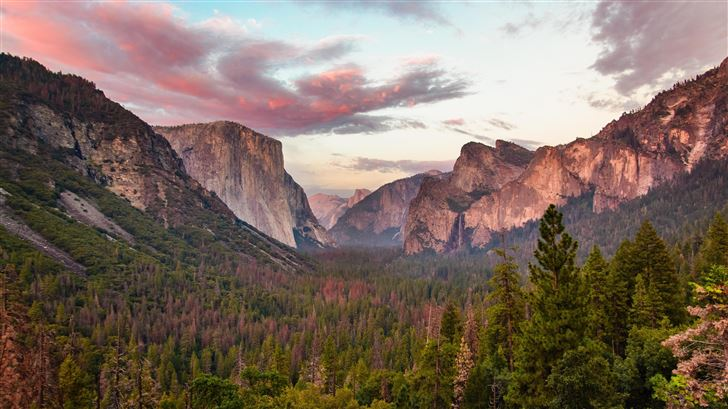 tunnel view at dusk yosemite 5k Mac Wallpaper