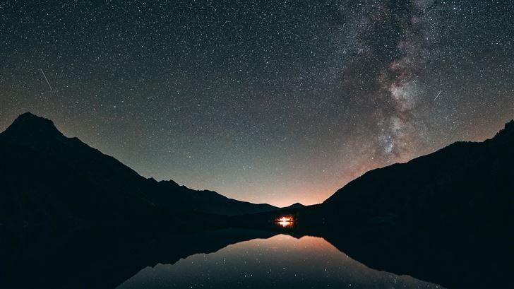 silhouette astronomy 5k Mac Wallpaper