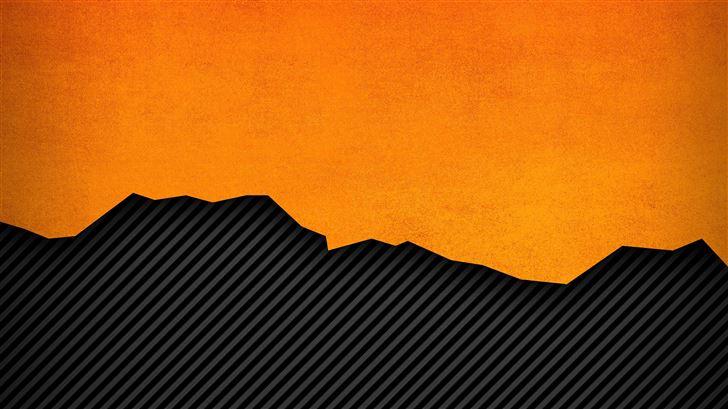 orange lines abstract pattern 4k Mac Wallpaper