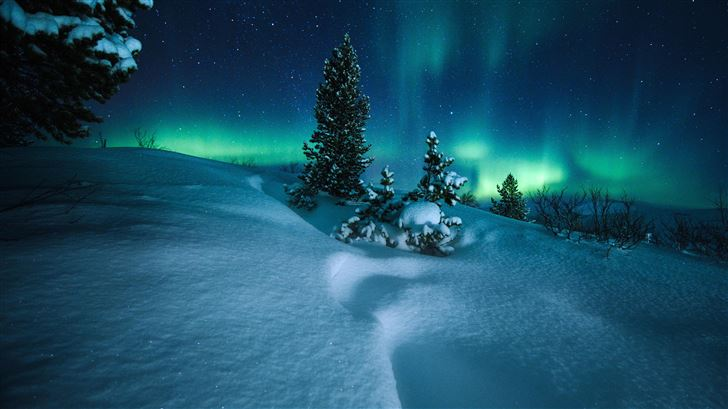 northern lights arctic circle norway Mac Wallpaper