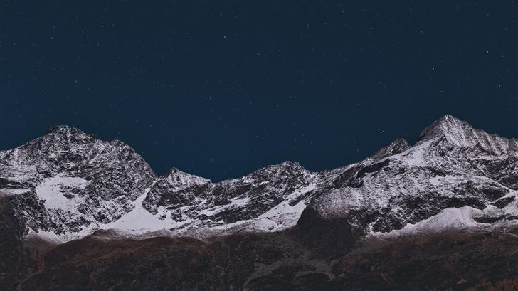 mountain covered with snow 5k Mac Wallpaper