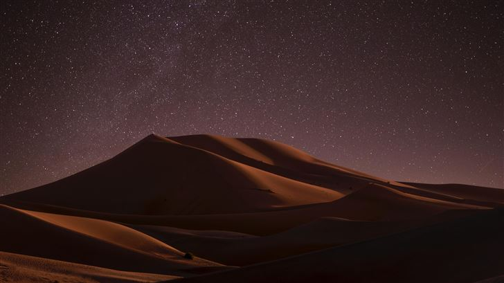 desert during night time 5k Mac Wallpaper