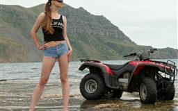 Girls and ATV
