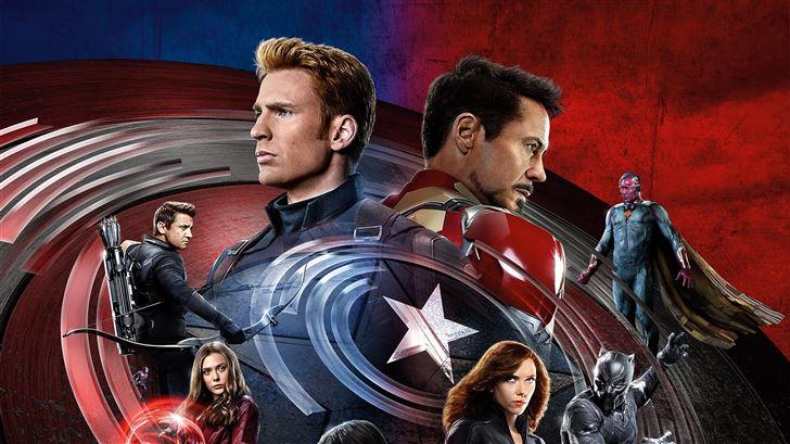 captain america civil war 4k Mac Wallpaper