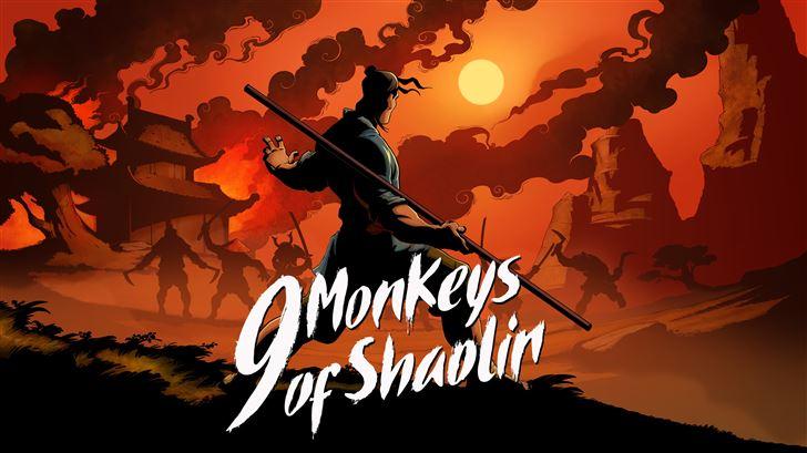 9 monkeys of shaolin Mac Wallpaper