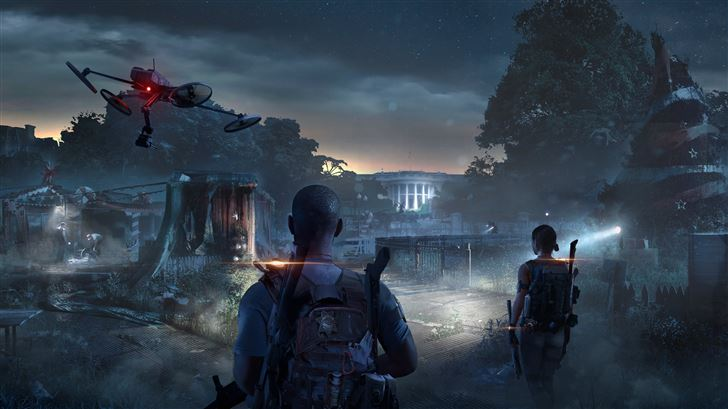 tom clancys the division 2 game 8k Mac Wallpaper