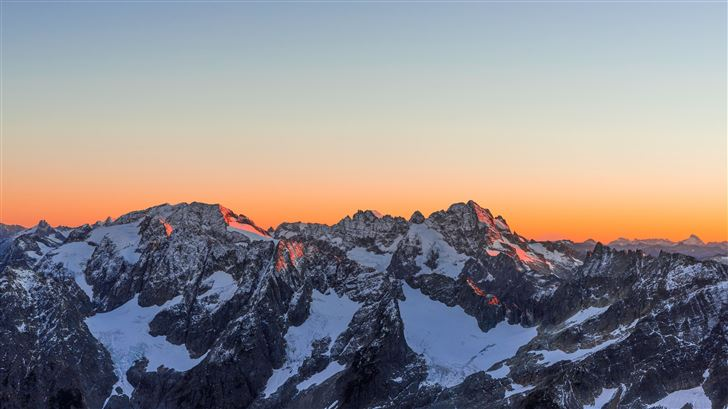 sunset at glacier 5k Mac Wallpaper