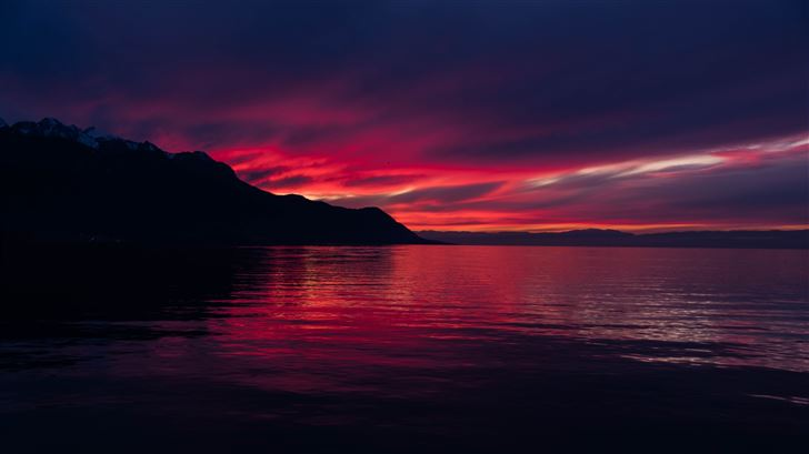 dark sunset 5k Mac Wallpaper