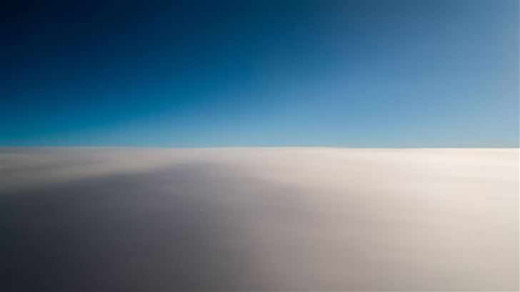 blue sky plane landscape Mac Wallpaper