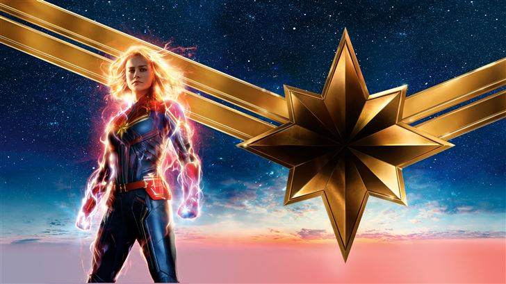 captain marvel movie 2019 12k Mac Wallpaper