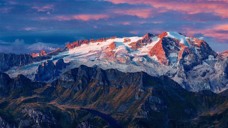 marmolada glacier in italy 8k Mac Wallpaper