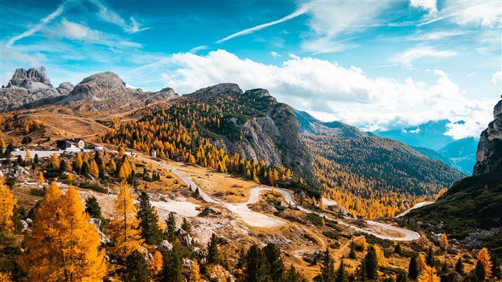italy autumn forest 5k Mac Wallpaper
