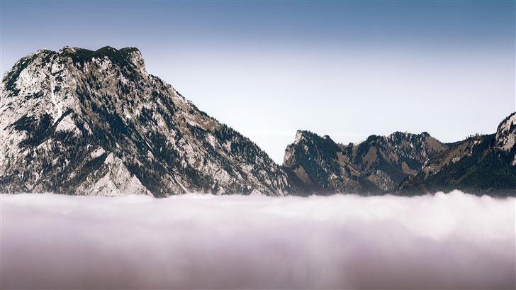 mountains landscape winter 8k Mac Wallpaper