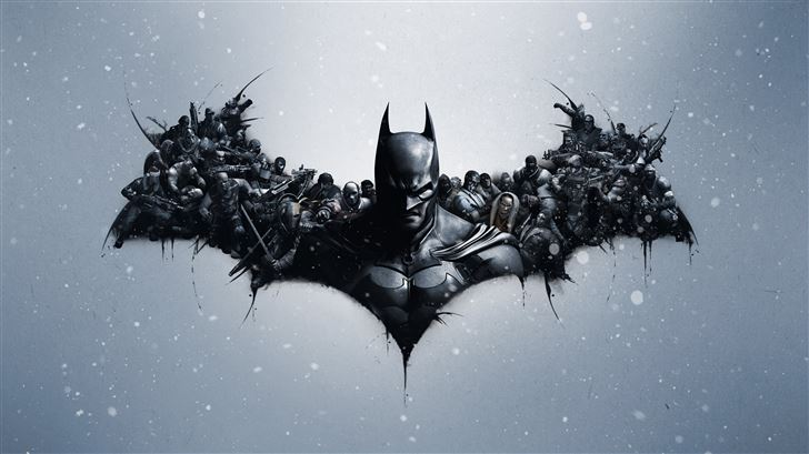 batman arkham origins logo 8k Mac Wallpaper