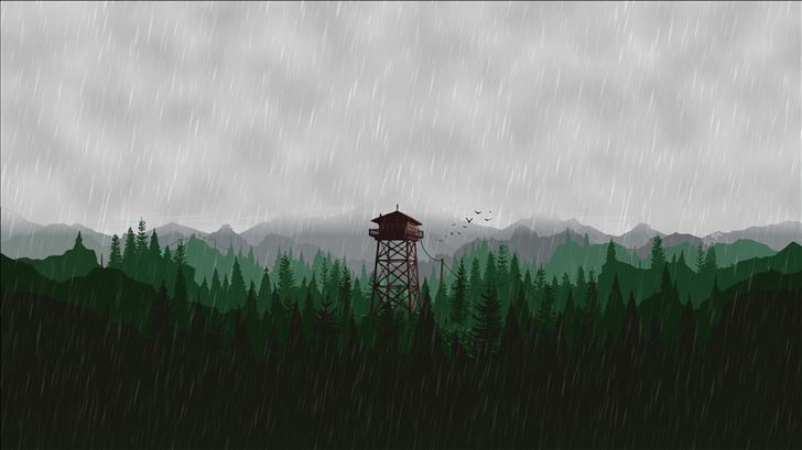 firewatch scenery 5k Mac Wallpaper