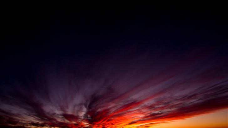 dark sunset evening 5k Mac Wallpaper