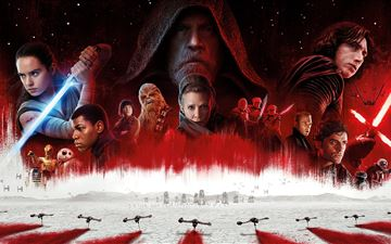 star wars the last jedi 8k iMac wallpaper
