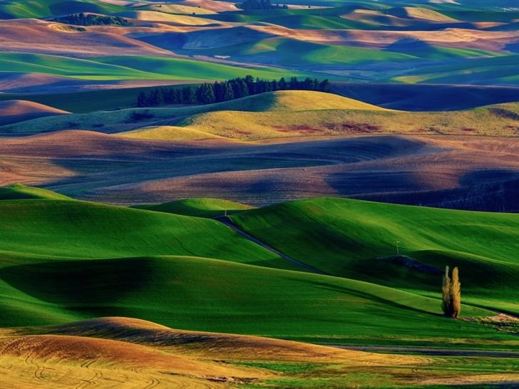 Amazing Colorful Hills Mac Wallpaper