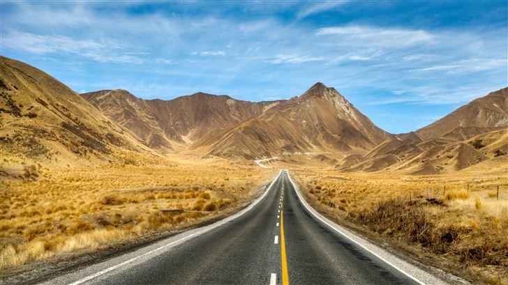 new zealand open roads to mountains 5k Mac Wallpaper