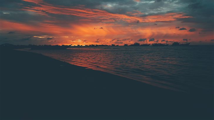 beach photo during golden hour 5k Mac Wallpaper