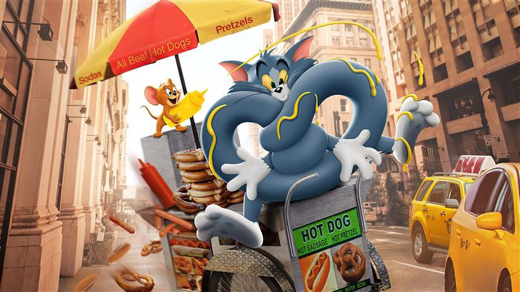 tom and jerry 2021 4k Mac Wallpaper