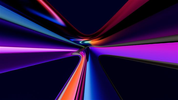 blended glass colors 8k Mac Wallpaper