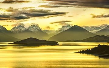 golden glenorchy 8k MacBook Air wallpaper