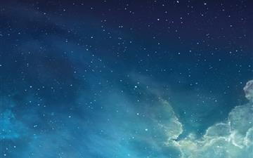 Blue night sky Mac wallpaper