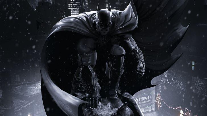darkness of batman arkham origins 5k Mac Wallpaper