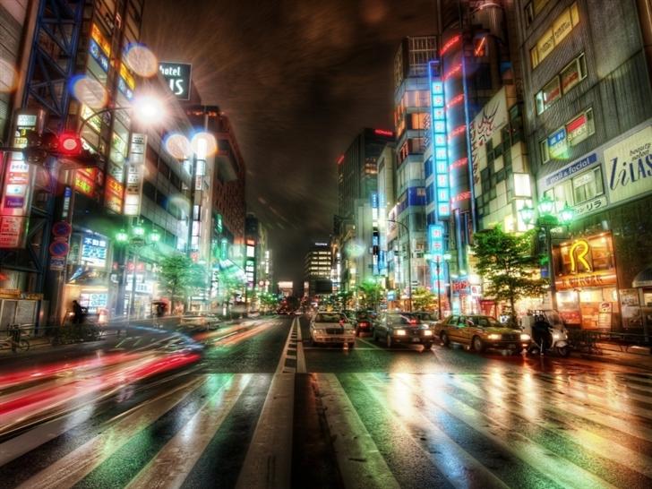 Tokyo night Mac Wallpaper