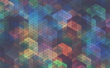 Colorful diamond background Mac wallpaper