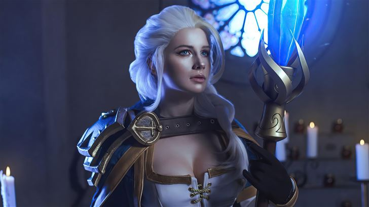 jaina proudmoore from the world of warcraft cospla Mac Wallpaper
