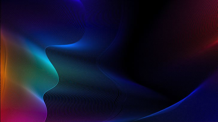 lights waves 4k Mac Wallpaper
