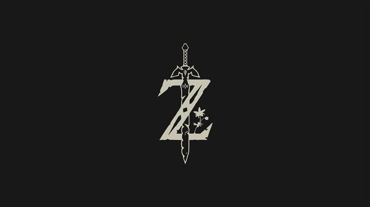 the legend of zelda minimal logo 4k Mac Wallpaper