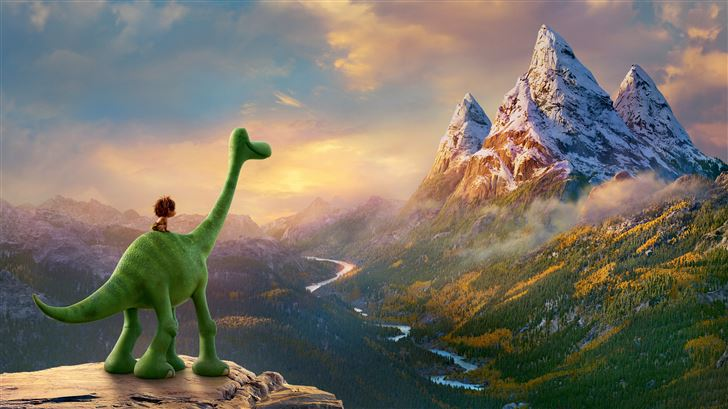 the good dinosaur 10k Mac Wallpaper