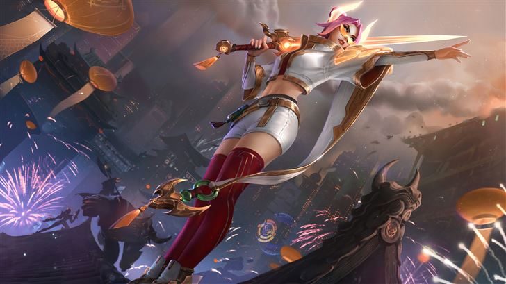 fiora league of legends 8k Mac Wallpaper