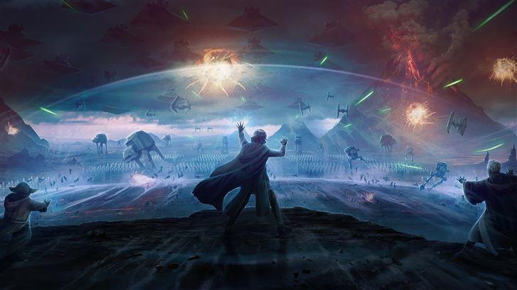 star wars the last stand 4k Mac Wallpaper