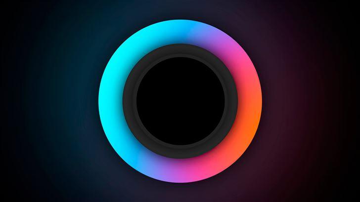 glowing circle 5k Mac Wallpaper