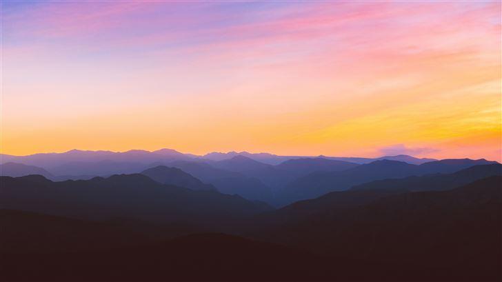 horizon landscape mountain peak 5k Mac Wallpaper