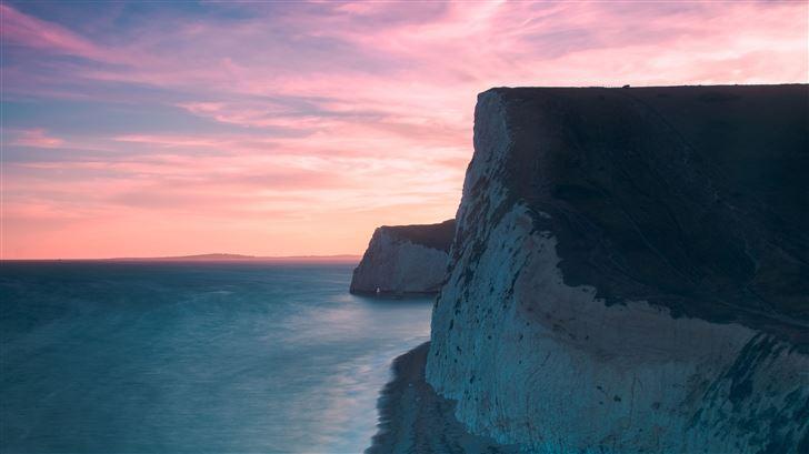 cliff long exposure 5k Mac Wallpaper