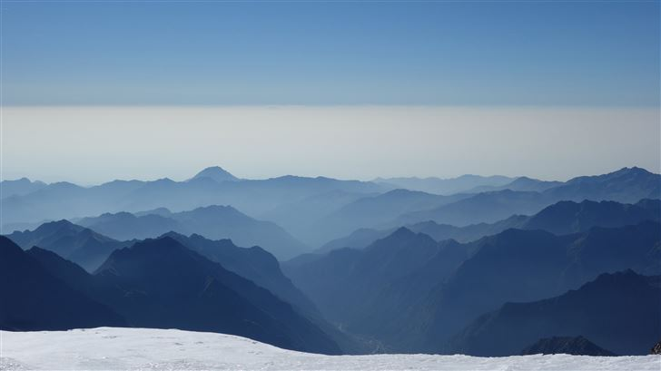 alps mountains clear sky 5k Mac Wallpaper