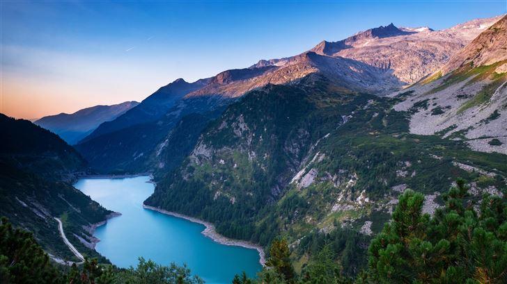 beautiful mountain range and river 5k Mac Wallpaper