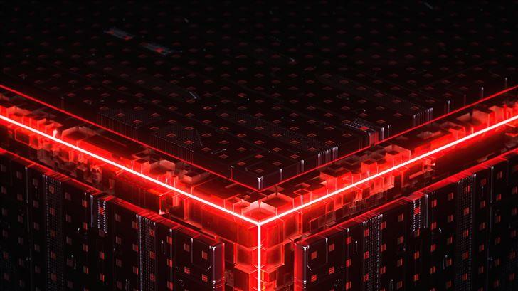 abstract cube building 5k Mac Wallpaper