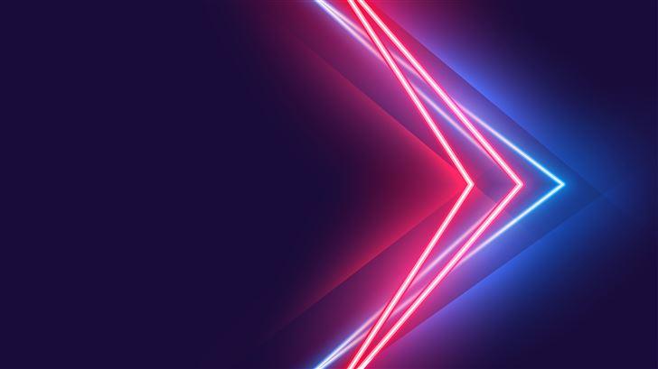 blue red neon vivid colors 5k Mac Wallpaper