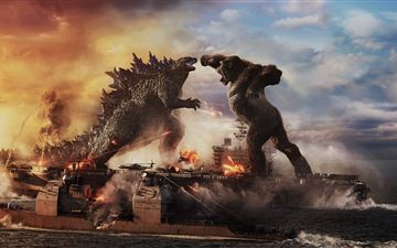godzilla vs kong fight 8k All Mac wallpaper