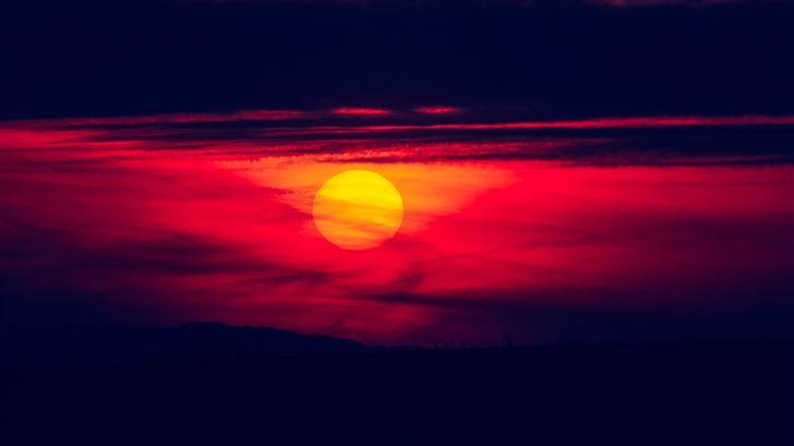 silence in sunset 5k Mac Wallpaper